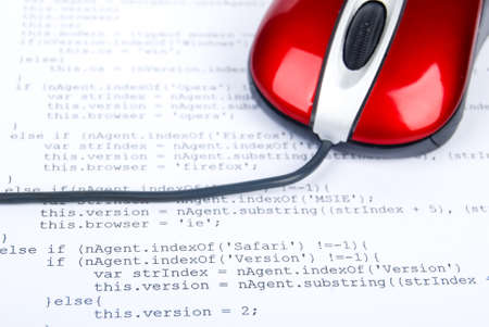 Computer mouse on html page Stock Photo - 13752062