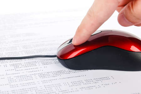 Computer mouse on html page Stock Photo - 13751934