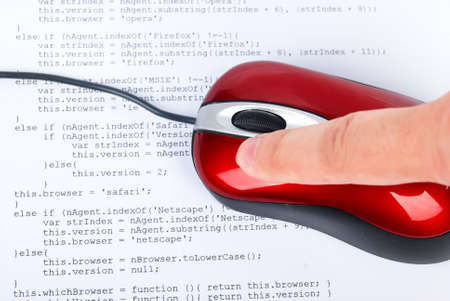Computer mouse on html page Stock Photo - 13752072