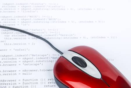 Computer mouse on html page Stock Photo - 13751849