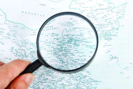 Magnifier with map photo