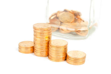 money jar: Money jar Stock Photo