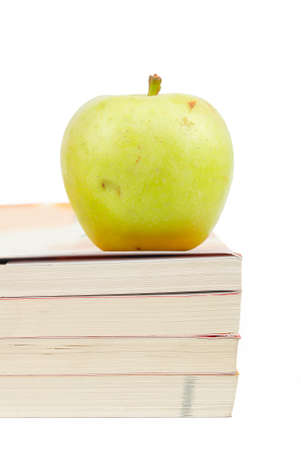 Pear and book photo