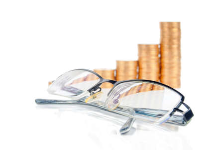 coins shot in golden color: Finance