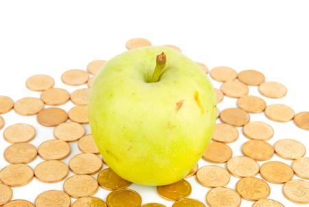 Apple on coin Stock Photo - 13812348