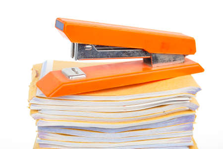 Stapler and document photo