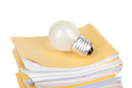 Light bulb on document photo