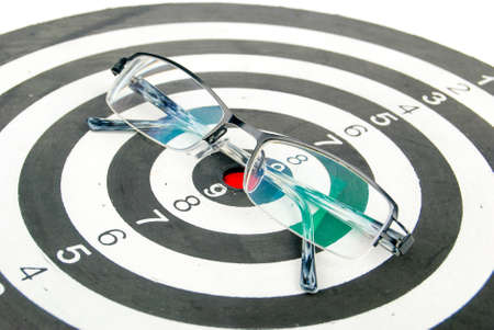 Glasses on dart Stock Photo - 13835556