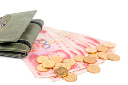 milion: Wallet and RMB Stock Photo