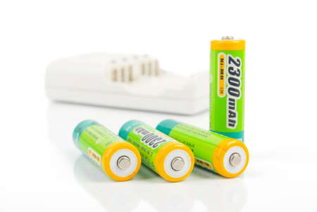 Battery and charger Stock Photo - 13833091