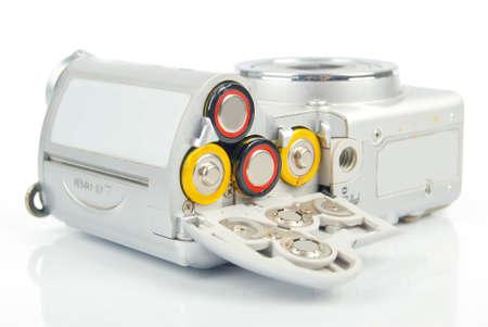 Battery in digital camera photo