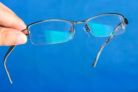 Glasses in hand Stock Photo - 13832695