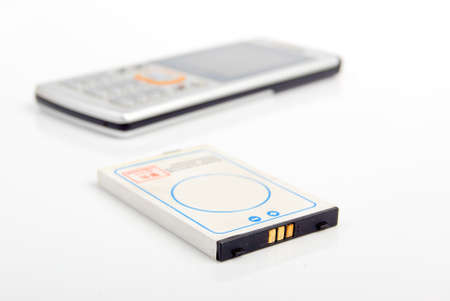 Cellphone and battery Stock Photo - 13830093
