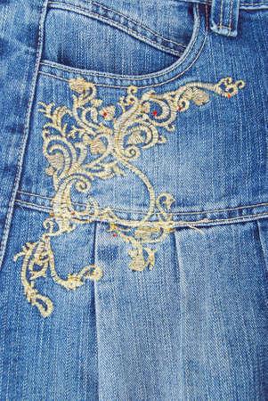 Jeans pocket photo
