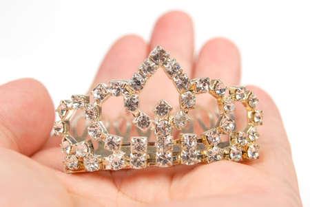 jewel hands: Crown Stock Photo