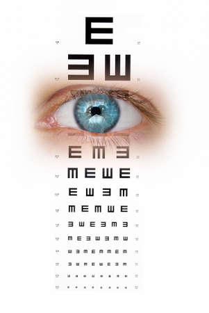 sight chart: La carta de ojo Foto de archivo