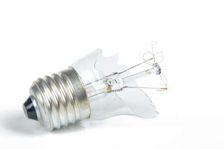The broken light bulb photo