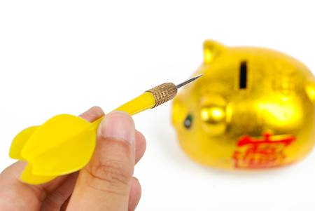 Dart with piggy bank photo
