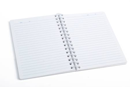 office physical pressure paper: Notepad Stock Photo