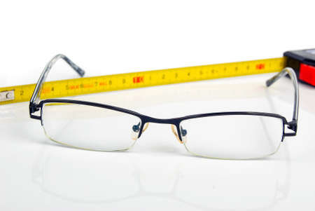 Ruler and glasses Stock Photo - 13908416