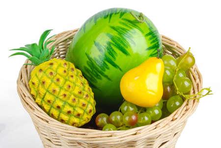 ingest: Fruit in basket Stock Photo