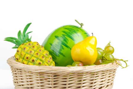 Fruit in basket photo