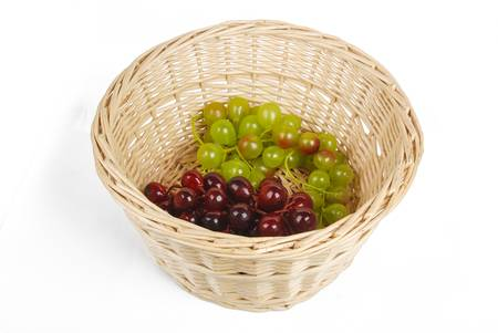 Fruit in basket photo