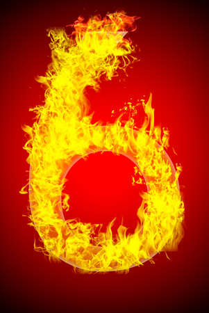 Fire letter Stock Photo - 13916379