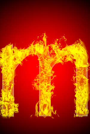 Fire letter Stock Photo - 13916383