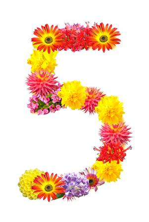 Flower letter Stock Photo - 13916428