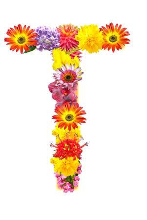 Flower letter Stock Photo - 13916377