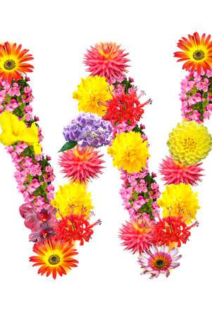 Flower letter Stock Photo - 13916518