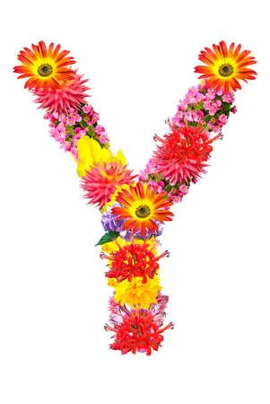 Flower letter Stock Photo - 13916423