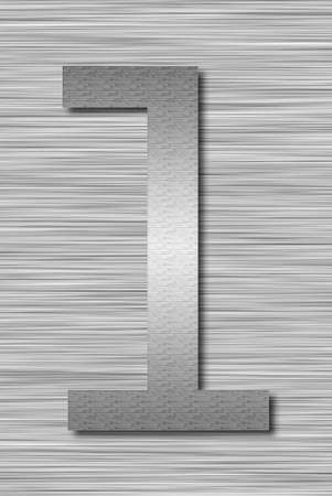 Stainless steel letter Stock Photo - 13975725