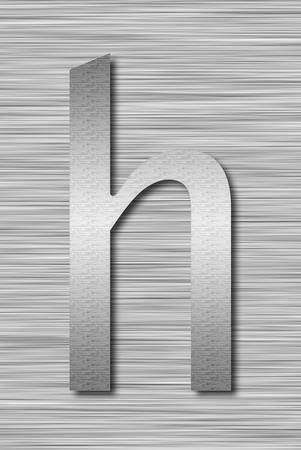Stainless steel letter Stock Photo - 13975702