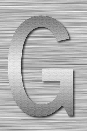 Stainless steel letter photo