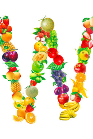 Fruit letter Stock Photo - 13975685