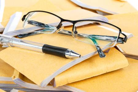 Document and glasses photo