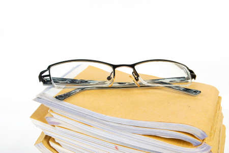 Document with glasses photo