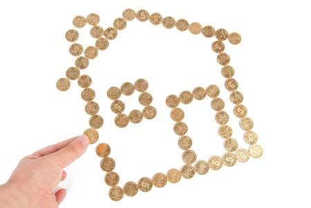 Home saving Stock Photo