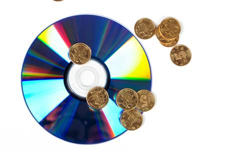 DVD with coin photo