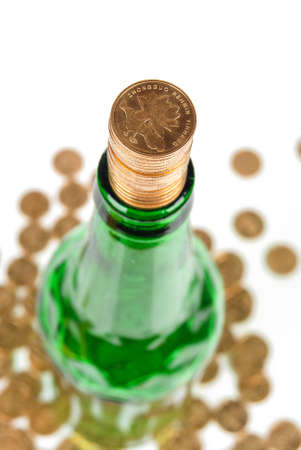 Money and bottle photo