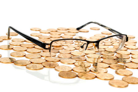 Coin with glasses photo
