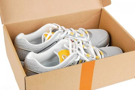 Sport shoes in box photo