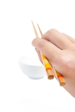 Chopstick with bowl photo