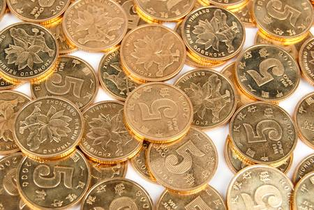coins shot in golden color: Coin