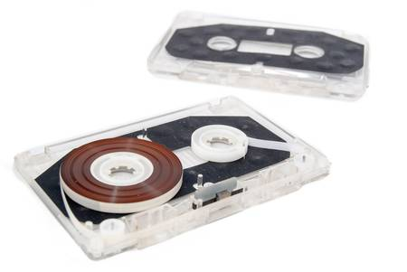 audio cassette: Audio cassette Stock Photo