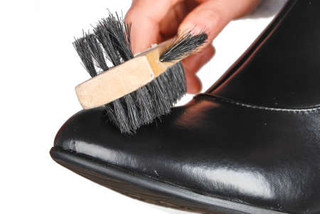 formal dressing: Shoes brush