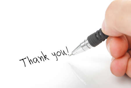 thank you note: Writing