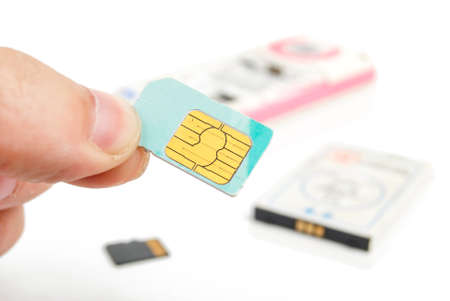 wireles: Sim card Stock Photo